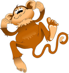 jumping monkey vector image