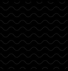 seamless pattern dotted wavy lines background vector image