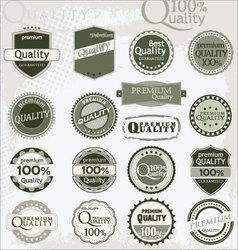 vintage retro premium quality labels vector image vector image