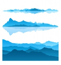 blue mountains vector image