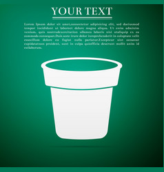 flower pot icon isolated on green background vector image