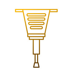 jackhammer tool repair construction equipment vector image vector image