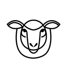linear stylized drawing - head of sheep or ram vector image vector image