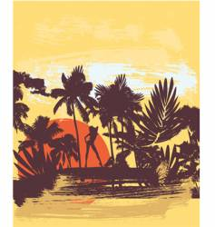 summer palm vector image