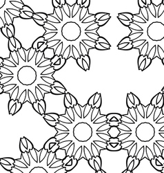 Abstract flower seamless pattern background vector image vector image