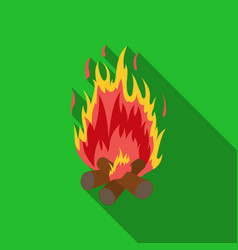 campfire icon in flat style isolated on white vector image vector image