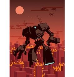 Giant robot vector