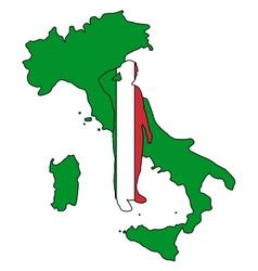Italian Salute vector image vector image