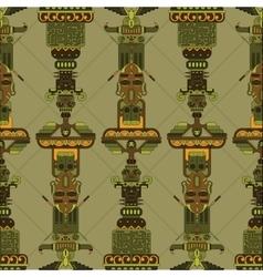 totem poles seamless pattern vector image