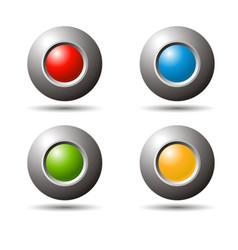 3d spheres vector image