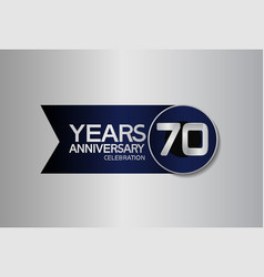 70 years anniversary logo style with circle vector