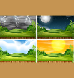a nature landscape with different climate vector image