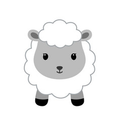 Adorable sheep in modern flat style vector