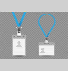 badge empty template and lanyard vector image