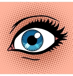 Beautiful female eye with make-up vector image
