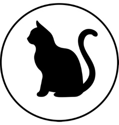 Black silhouette of cat vector