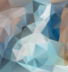 blue brown polygonal triangular pattern background vector image