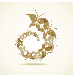 Brown butterfly icon vector image