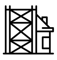 Building reconstruction icon outline style vector