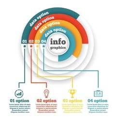 business circle infographic chart diagram vector image