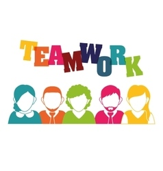 Business teamwork and leadership vector