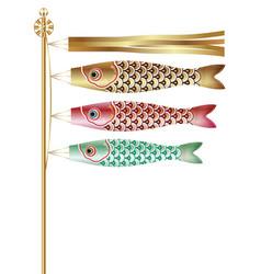 Carp streamers for the japanese boys festival vector