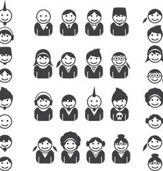 Cartoon figures small vector