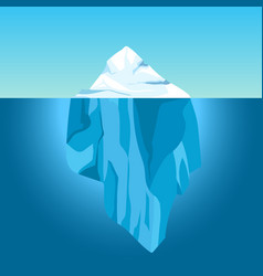 cartoon iceberg in water big iceberg floating in vector image