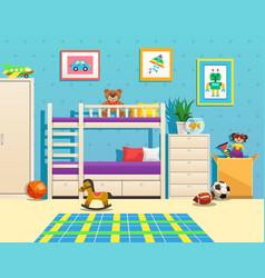 Children room interior vector