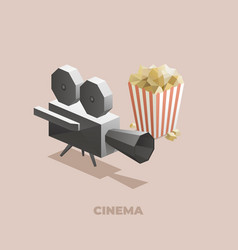 cinema isometric polygons vector image
