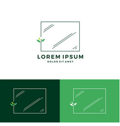 Cleaning window glass working logo download vector