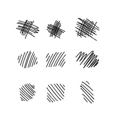 collection of hand drawn lines vector image