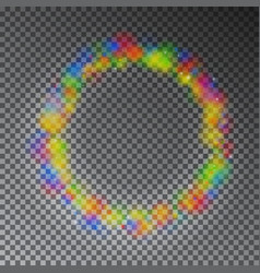 Colorful color magic circle glowing rainbo vector