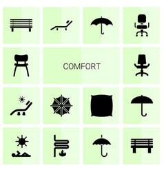 comfort icons vector image