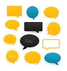 Comic speech bubbles icon set vector