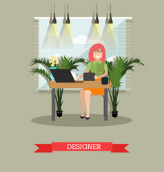 creative designer in flat vector image