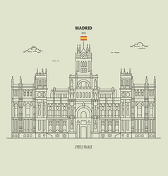 Cybele palace in madrid spain vector