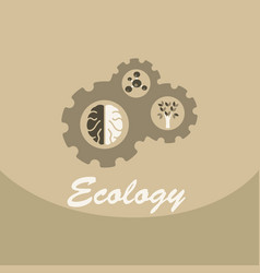 Ecology problem concept in flat stile icons set vector