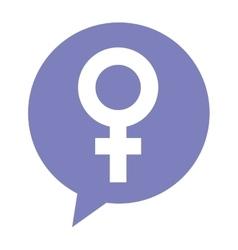 Female symbol silhouette icon vector