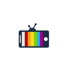 Film mobile logo icon design vector
