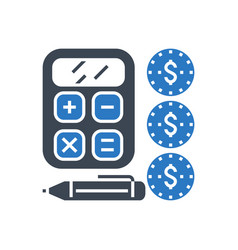 finance management glyph icon vector image