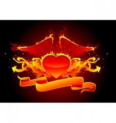 fire and arrows line vector image