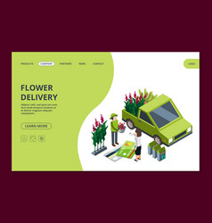 flower delivery web banner template vector image