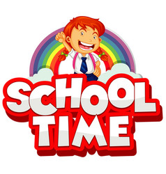 Font design for word school time on white vector