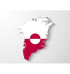 Greenland country map with shadow effect presentat vector image