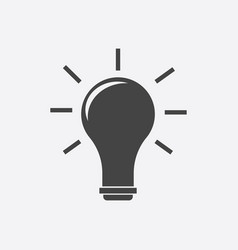 Idea icon flat vector