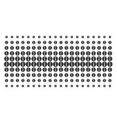 Info shape halftone pattern vector