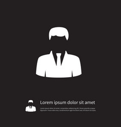 Isolated statesman icon president element vector