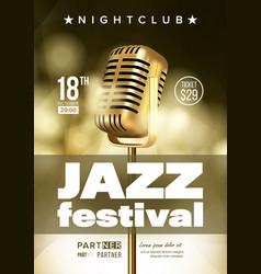 Jazz improvisation festival flyer brochure vector