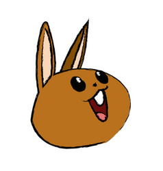 kawaii rabbit cute animal cartoon image vector image